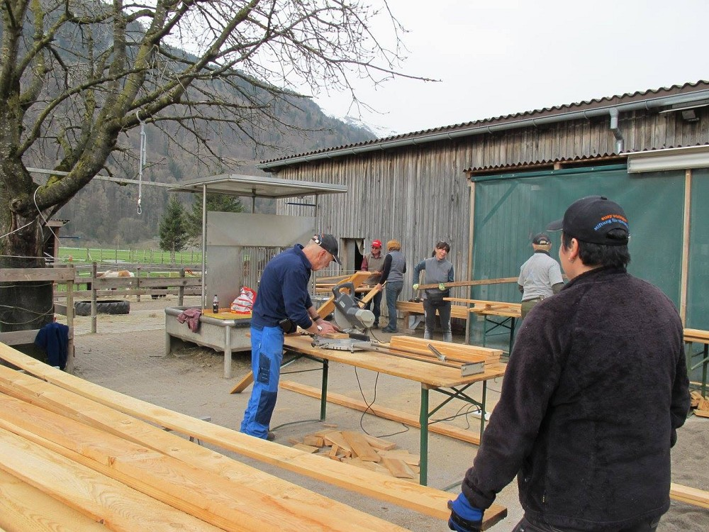 Arbeitstag in der Ponyauffang-Station HOPE in Bad Ragaz