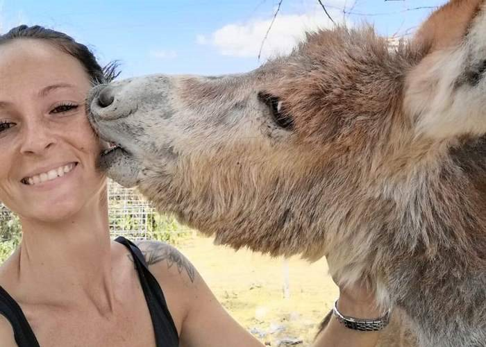 SUST helper Sarah Schnepf finishes her animal welfare internship today at the