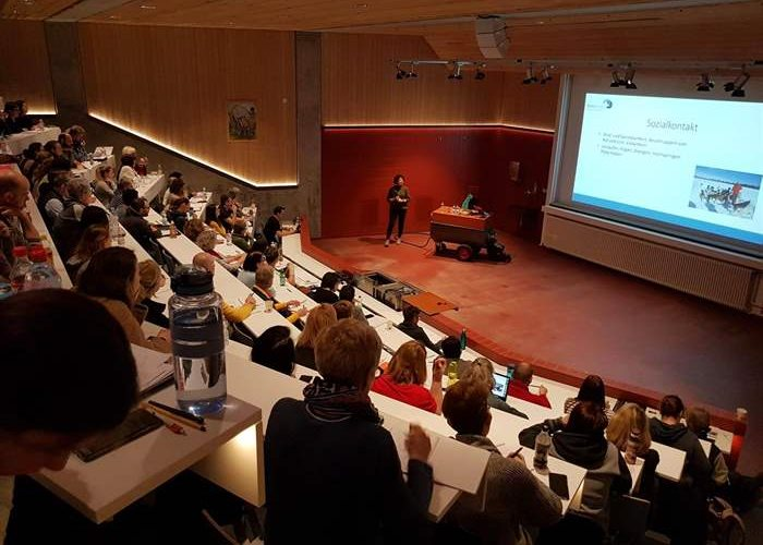 Full lecture hall at the SUST Academy
