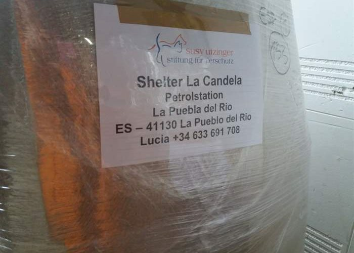 Material deliveries for shelters in need